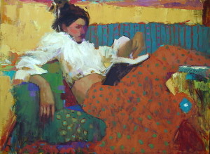 """""""Summer Read"""" painting by Michael Steirnagle"""