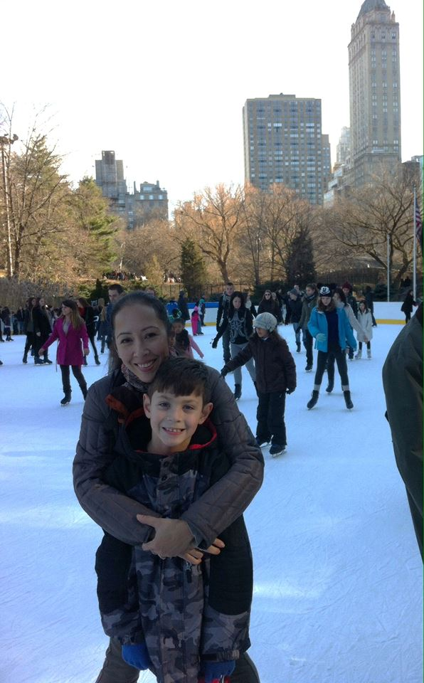 Taina and Remy on ice
