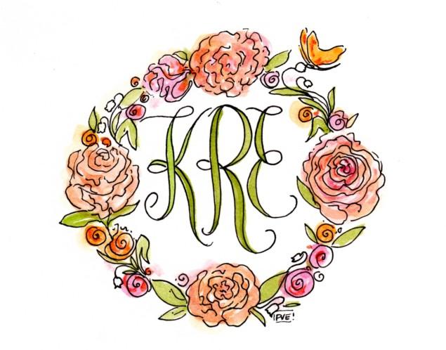 KRE- monogram- pve468