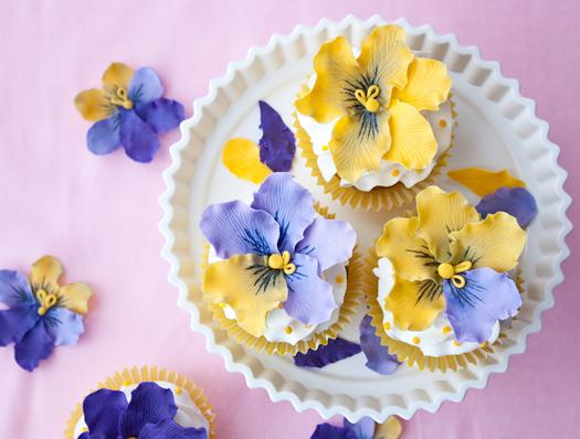 cake journal pansies